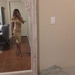 Dresses & Skirts - Sand bandage lace dress!